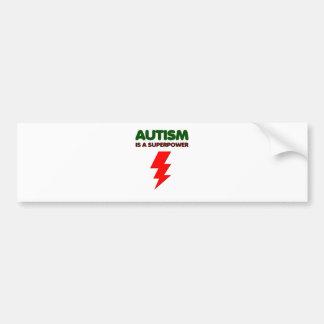 Autism is super power, children, kids, mind mental bumper sticker
