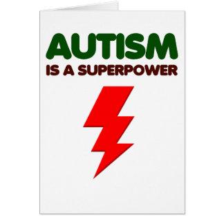 Autism is super power, children, kids, mind mental card