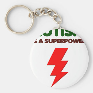 Autism is super power, children, kids, mind mental key ring