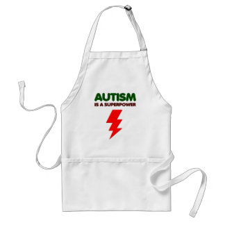 Autism is super power, children, kids, mind mental standard apron