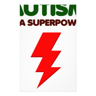 Autism is super power, children, kids, mind mental stationery
