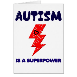 Autism is superpower, mental condition health mind card