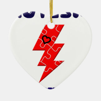 Autism is superpower, mental condition health mind ceramic ornament