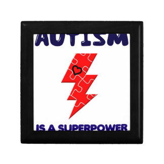 Autism is superpower, mental condition health mind gift box