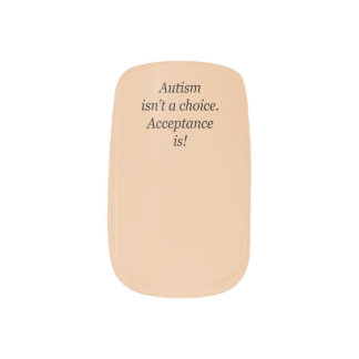 Autism isn't a choice minx nails minx nail art