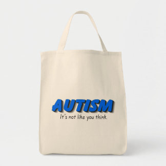 Autism Its Not Like You Think (Blue) Canvas Bags