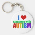 Autism Love Basic Round Button Key Ring