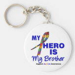 Autism My Hero is My Brother Basic Round Button Key Ring