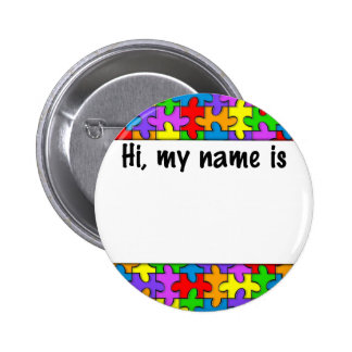 Autism Name Tag 6 Cm Round Badge