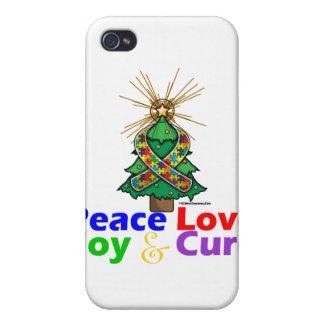 Autism Peace Love Joy Cure iPhone 4 Covers