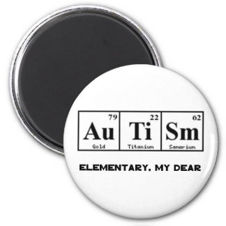 Autism, Periodic Table Elements & Sherlock Holmes 6 Cm Round Magnet