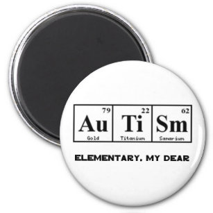 Periodic table of elements refrigerator magnets zazzle autism periodic table elements sherlock holmes magnet urtaz Image collections