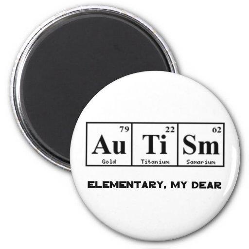 Autism, Periodic Table Elements & Sherlock Holmes Refrigerator Magnet