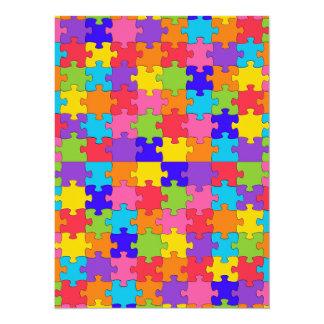 autism puzzle 14 cm x 19 cm invitation card