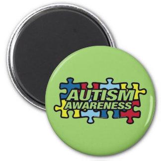 Autism Puzzle 6 Cm Round Magnet