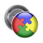 Autism Puzzle Ball Button