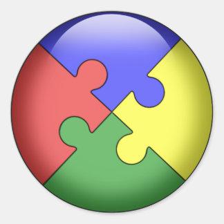 Autism Puzzle Ball Classic Round Sticker