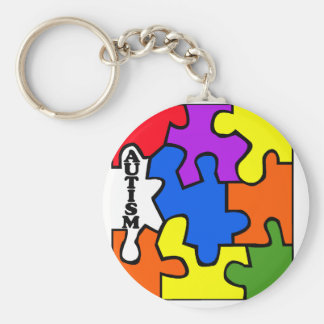Autism Puzzle Key Ring