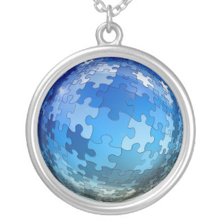 Autism Puzzle Necklace