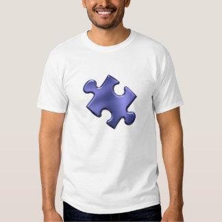 Autism Puzzle Piece Blue Tees