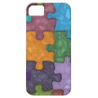 Autism Puzzle Pieces Felt Pattern iPhone 5 cases