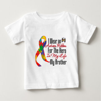 Autism Ribbon Hero in My Life My Brother Baby T-Shirt