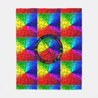 Autism rocks,  rolls,  spins and twirls blanket