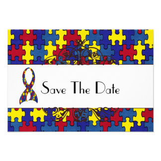 Autism Save The Date Custom Announcements