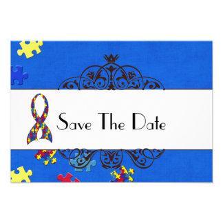 Autism Save The Date Invitation