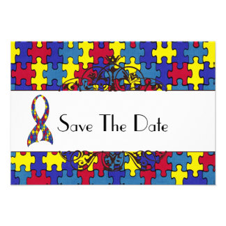 Autism Save The Date Personalized Announcements