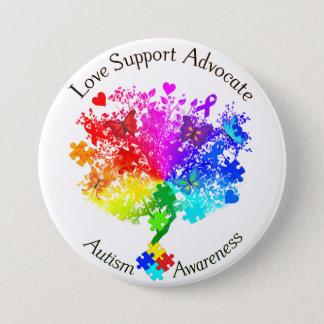 Autism Spectrum Tree 7.5 Cm Round Badge