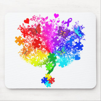Autism Spectrum Tree Mouse Pad