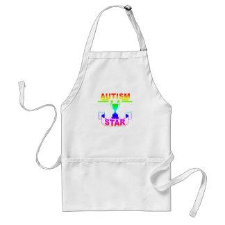 Autism Star T-Shirt '. Standard Apron