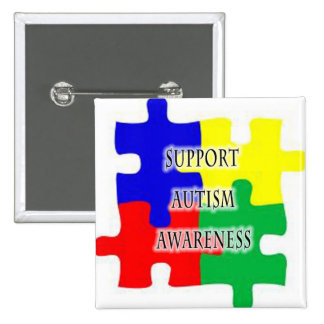 Autism Support Button