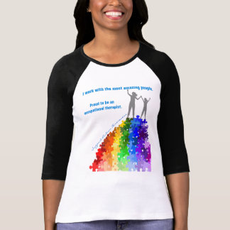 Autism Support Climbing New Heights Woman & Girl T-Shirt