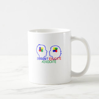 autism Support Educate Advocate . Coffee Mug