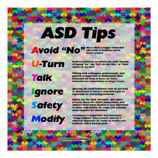 Autism Teacher Tips Poster