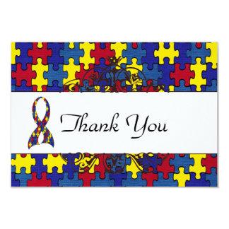 Autism Thank you 9 Cm X 13 Cm Invitation Card