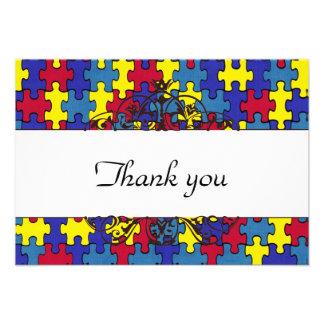 Autism Thank you Custom Invites