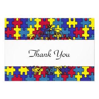 Autism Thank you Custom Invitations