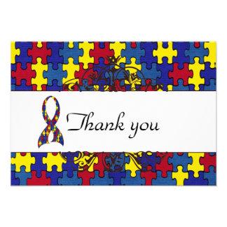Autism Thank you Invites
