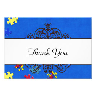 Autism Thank you Personalized Announcements