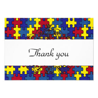 Autism Thank you Personalized Invitations