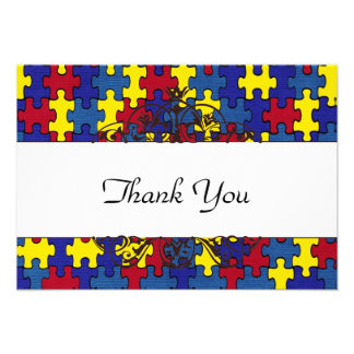 Autism Thank you Personalized Invite
