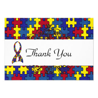Autism Thank you Personalized Invites