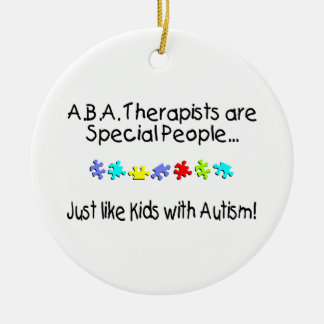 Autism Therapist Ceramic Ornament