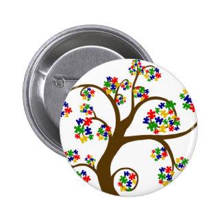 Autism Tree of Life 6 Cm Round Badge