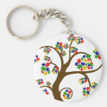 Autism Tree of Life Basic Round Button Key Ring