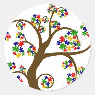 Autism Tree of Life Round Sticker