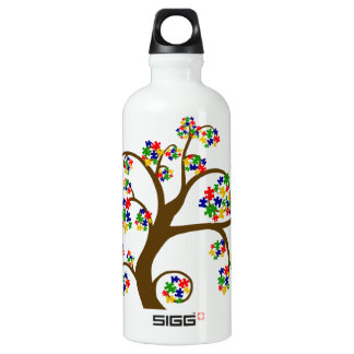 Autism Tree of Life Water Bottle